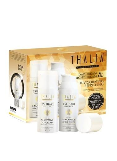Thalia Thalia Organik 2'li Set 50 ml X 2 Adet Cilt Tsubaki Yağlı Gece-Gündüz Yüz BakımKremi Renkli